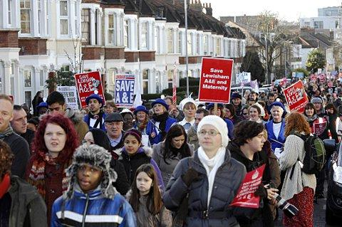 Lewisham Hospital campaign in Valentine's Day call