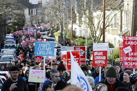 25,000 people marched against the Lewisham Hospital plans