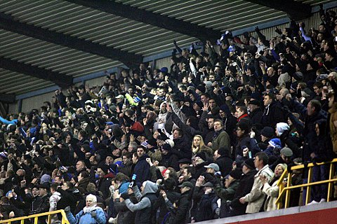 Millwall fans celebrate at the final whistle last Friday. PICTURE BY EDMUND BOYDEN.
