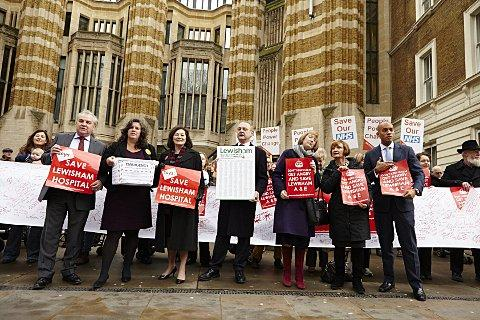 Save Lewisham Hospital campaigners handed over petitions at Whitehall yesterday