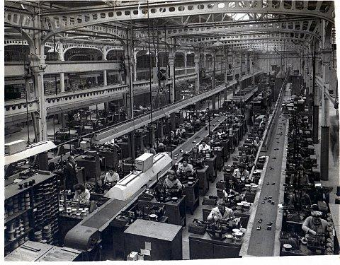 The photograph of  the Burndept's factory in Erith
