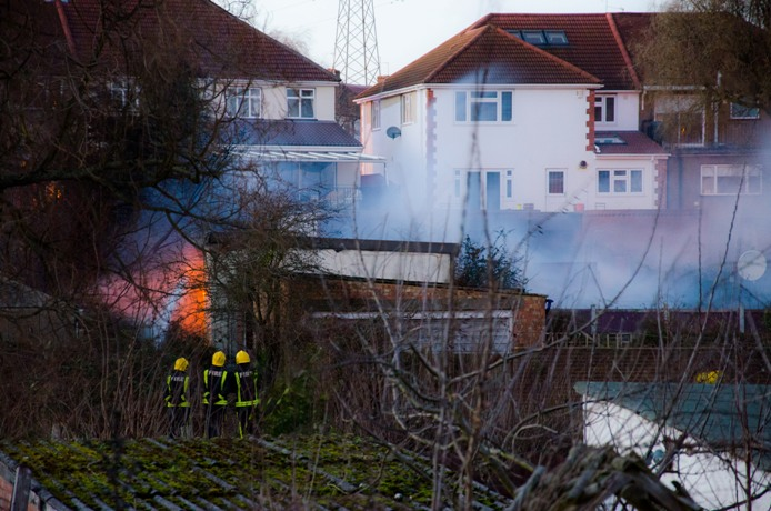 Bexley garage blaze: fire crews attend Albany Road for more than two hours