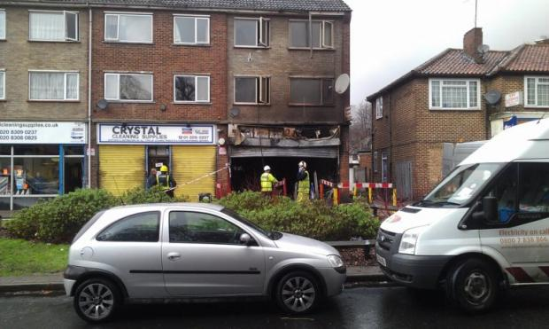 The scene at Pizza 2 Night in Sidcup this morning (photo from Twitter courtesy of @n_s_martin).