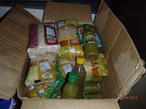 £1.5 million of cocaine was uncovered mixed up with food in these containers