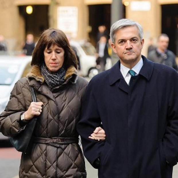 News Shopper: Former energy secretary Chris Huhne and his partner Carina Trimingham arrive at Southwark Crown Court