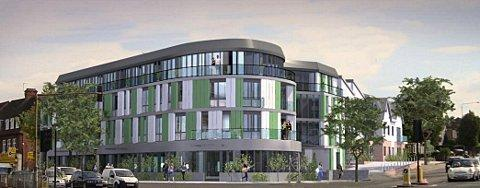 An artist's impression of the Crossways Hotel