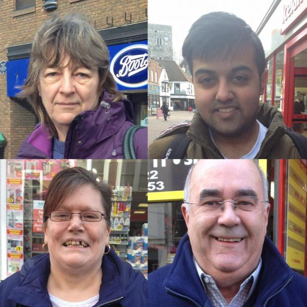 News Shopper: (left to right, top to bottom) Carol James, Jaymin Wadher, Helen Anderson & David Pemberton