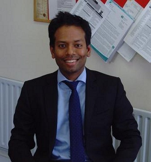 Doctor Mayooran Siva helped deliver a baby in Eltham Medical Practice's car park in the snow