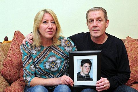 News Shopper: Samuel Guidera's parents Sarah and Chris are appealing for help to catch their son's killer