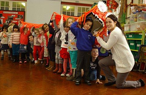The children of Hawes Down, West Wickham, celebrated Chinese New Year in style.