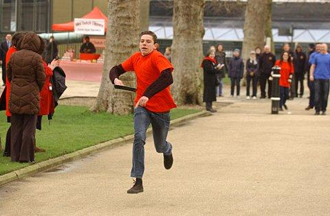 Greenwich businesses have stacks of fun with pancake race round Old Royal Naval College