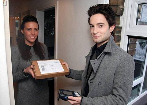 News Shopper: The Robert Pattinson look-a-like with Bromley resident Lace Perou.