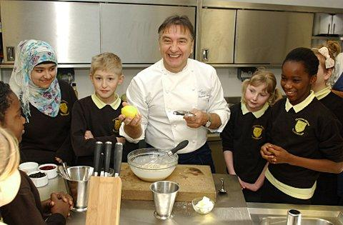 Raymond Blanc visits Charlton Manor primary school