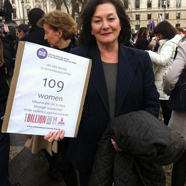 Dame Joan Ruddock backed campaign against domestic violence One Billion Rising