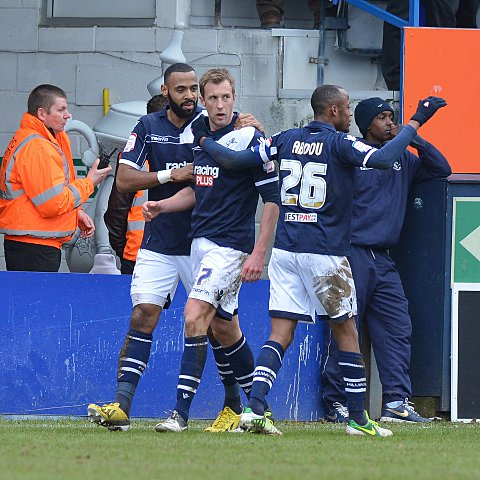 News Shopper: Hulse is congratulated by Liam Trotter and Jimmy Abdou