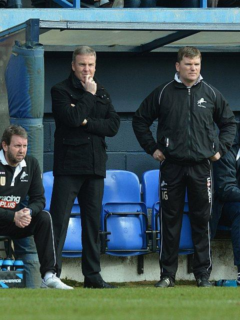 Kenny Jackett watches on at Kenilworth Road. PICTURES BY KEITH GILLARD.