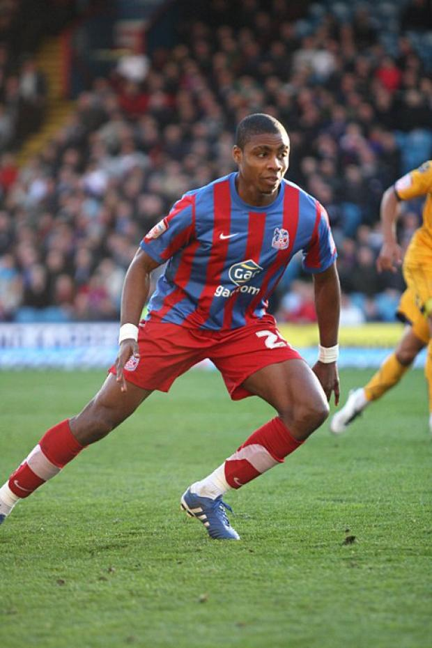 Jonathan Obika is pictured during his spell with Crystal Palace