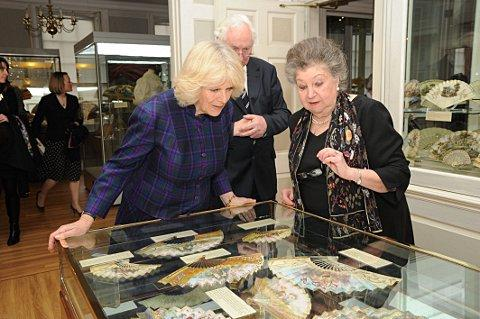 Duchess of Cornwall visits West Greenwich Library and Fan Museum