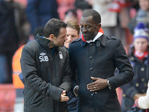 News Shopper: Chris Powell with former Charlton team-mate Andy Reid