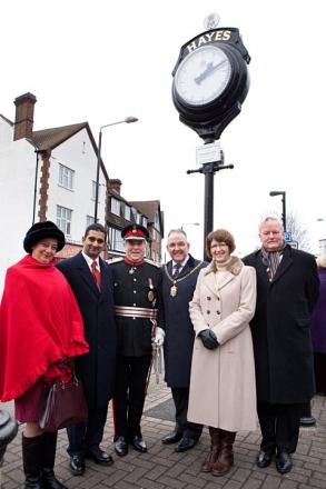 Dignitaries at the unveiling ceremony including Lord-Lieutenant Sir David Brewer (third from left)