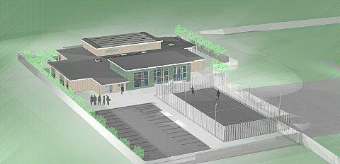 A computer generated image showing the design of the facility.