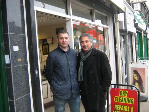 News Shopper: Osmon and Ray Hussein outside their dry cleaning shop in Lowfield Street