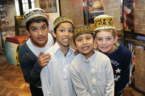 From left to right: Fahim Ahad, 11, Junayd Rashid, 9, Khalid Rashid, 8 and Max Butterworth, 10.