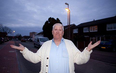 News Shopper: Orpington postie Robert Goddard is baffled by Quilter Road light works