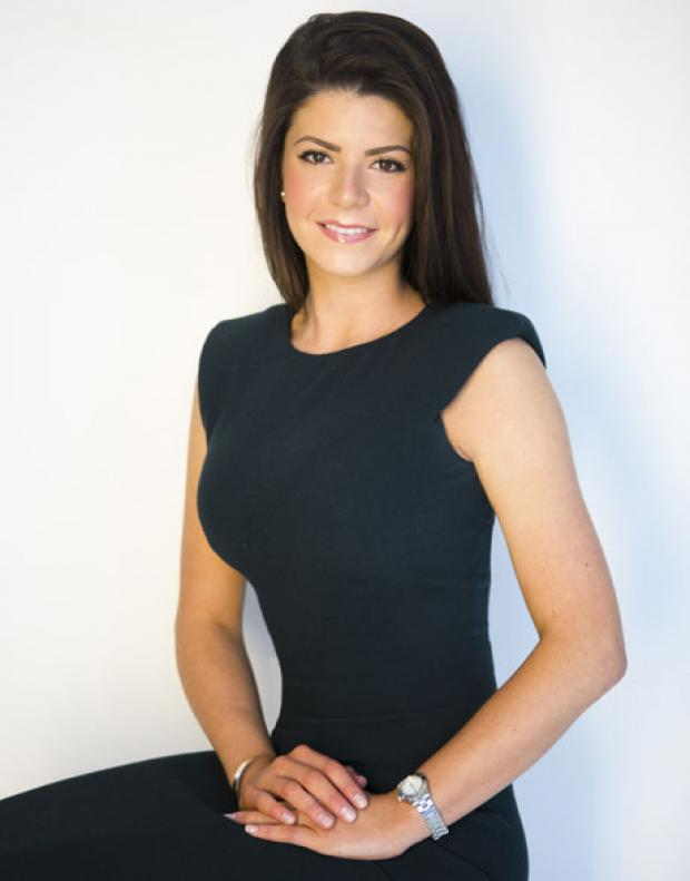 Miss London City hopeful Amy Carlin