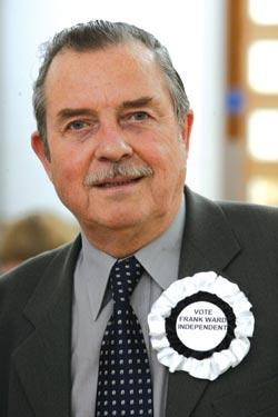 Former Labour councillor, Frank Ward, who celebrated the Tory victory.