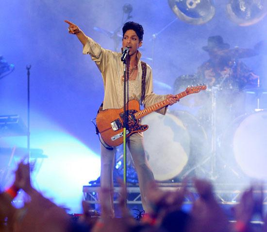 Prince on the main stage at Hop Farm Festival 2011