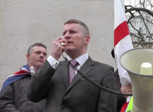 Former BNP councillor for Swanley, Paul Golding, is spearheading the protest