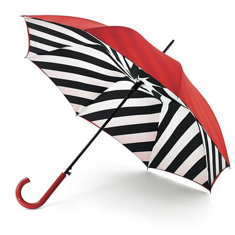 News Shopper: STRIPY SHOWERS: Lulu Guinness Bloomsbury diagonal stripe umbrella, £40 (www.fultonumbrellas.com).