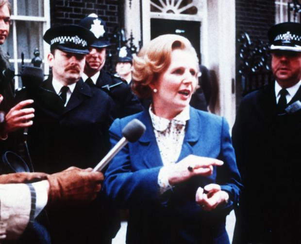 News Shopper: SEAT OF POWER: Margaret Thatcher outside 10 Downing Street following her election as Prime Minister in 1979
