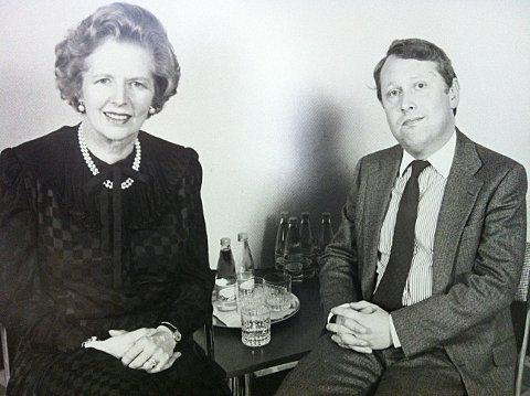 News Shopper: Bob Neill pictured with Margaret Thatcher in 1982