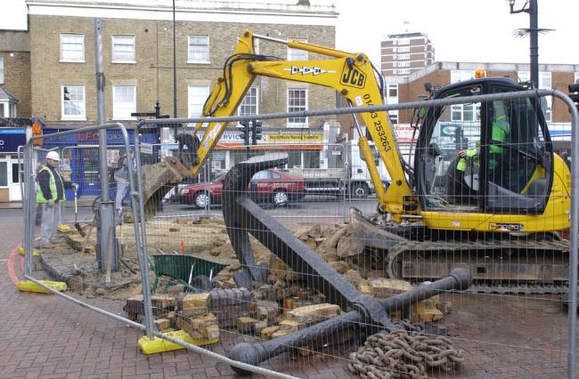 Deptford High Street anchor removed by Lewisham Council