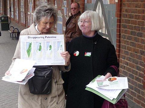 Maureen Okairo and Susan Bower were part of the Palestinian Solidarity Campaign group which leafleted outside Sainsbury's in Bromley