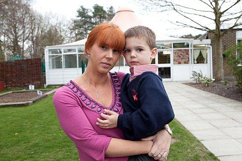 News Shopper: Jo Higgs with five-year-old Charlie
