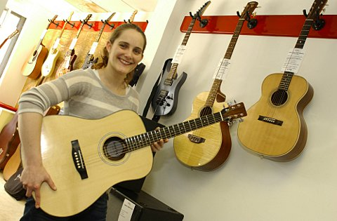Victoria Hurley hopes her guitar making business in Orpington will be a success.