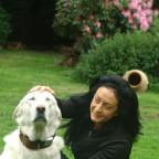 Sonia Hocaoglu with her dog Tolia