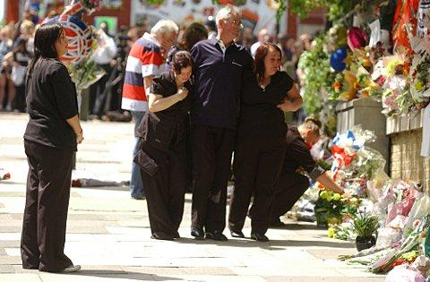 Lee Rigby's family paid their respects at Woolwich Barracks