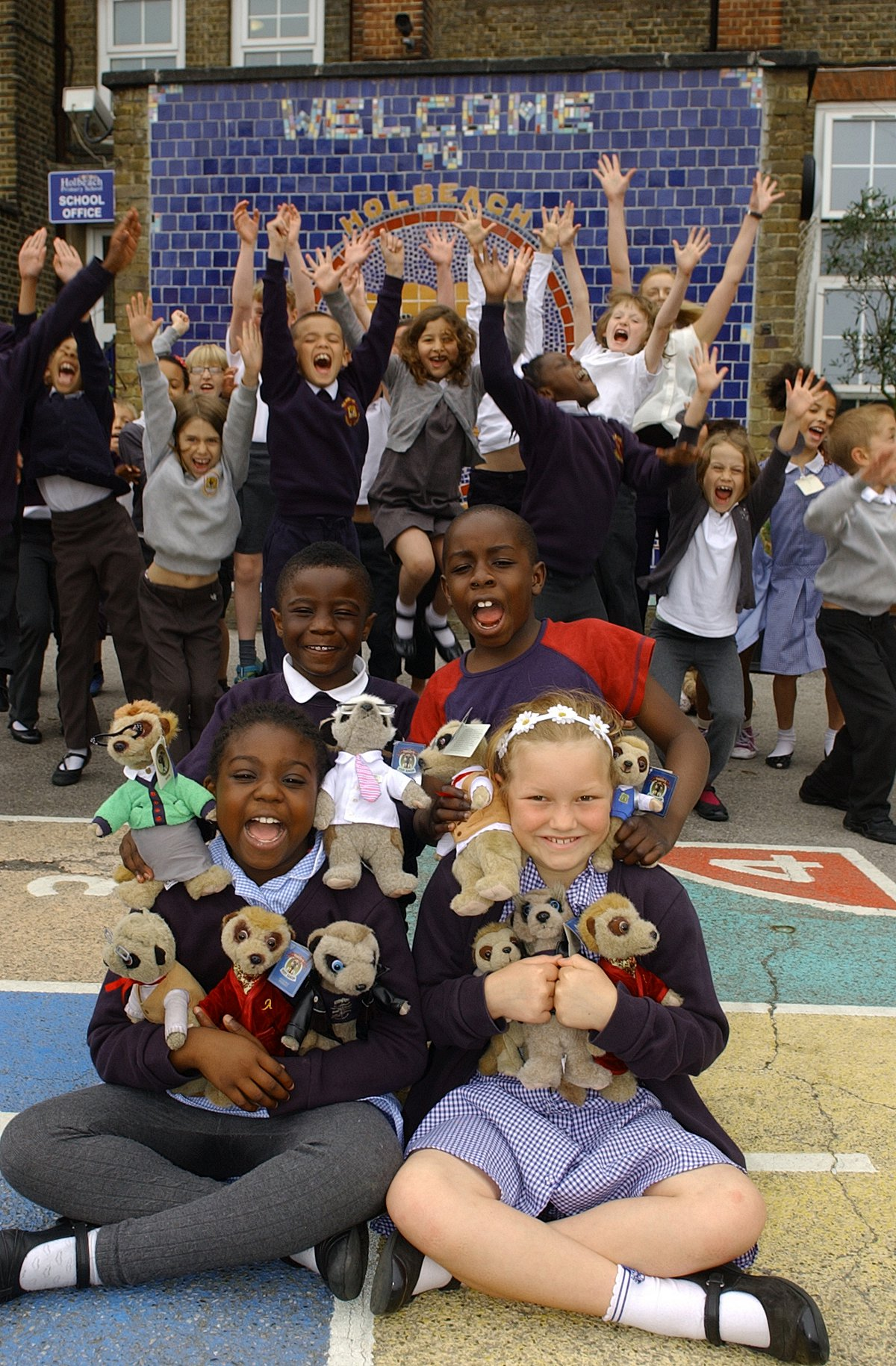Catford Holbeach Primary class get replacement meerkats from Compare the Market's Aleksandr Orlov