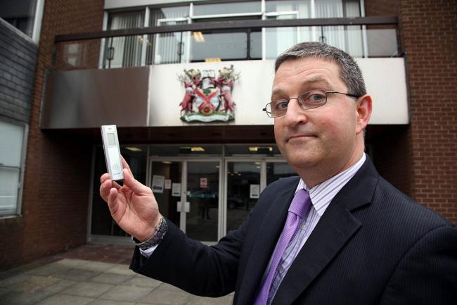 Nicholas Dowling outside the council offices at the Civic Centre in Bexleyheath.