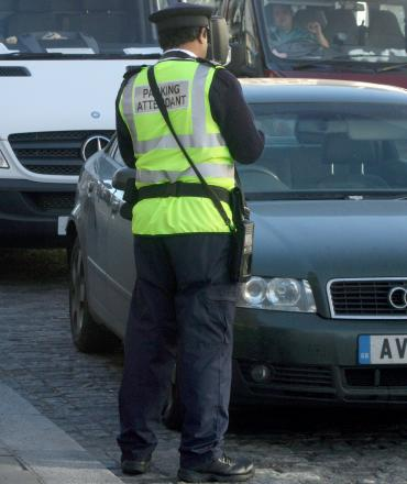 A traffic warden ticketed a bus picking up disabled people in Bexleyheath.