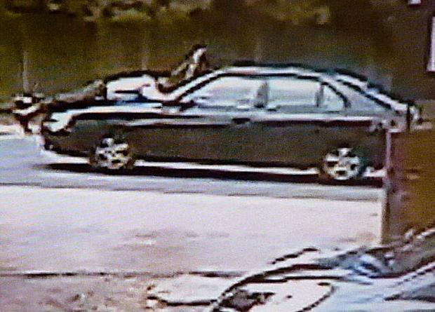 News Shopper: CCTV footage from Texaco shows the Mr Asokkumar being carried off on the bonnet.