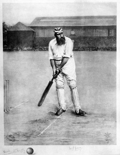 News Shopper: PORTLY STAR: WG Grace in his younger days, like when he appeared in 1873, aged