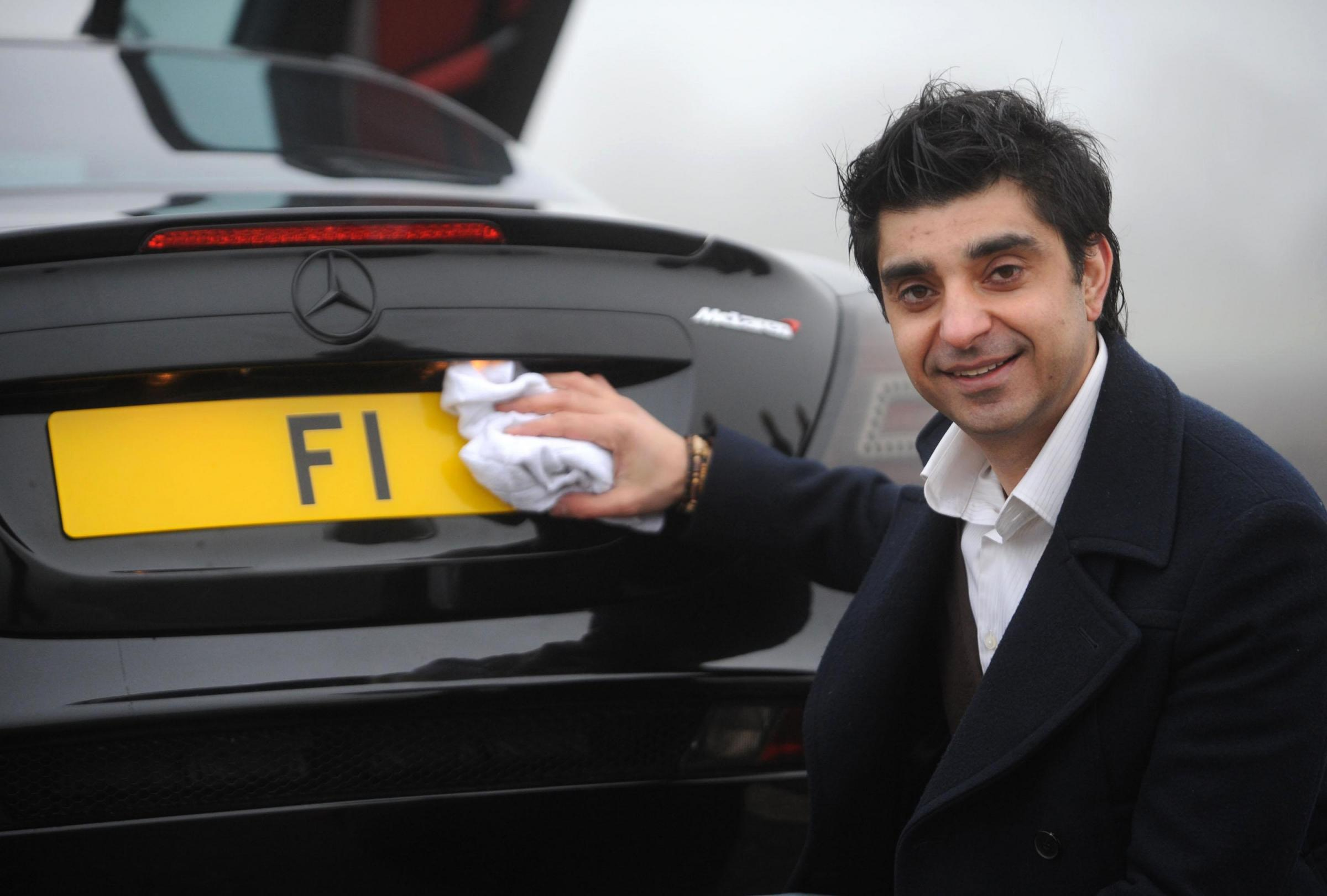 What are the most expensive car number plates in the UK?