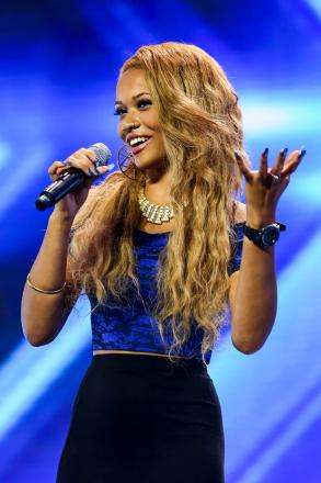Tamera Foster on stage. (ITV Pictures)