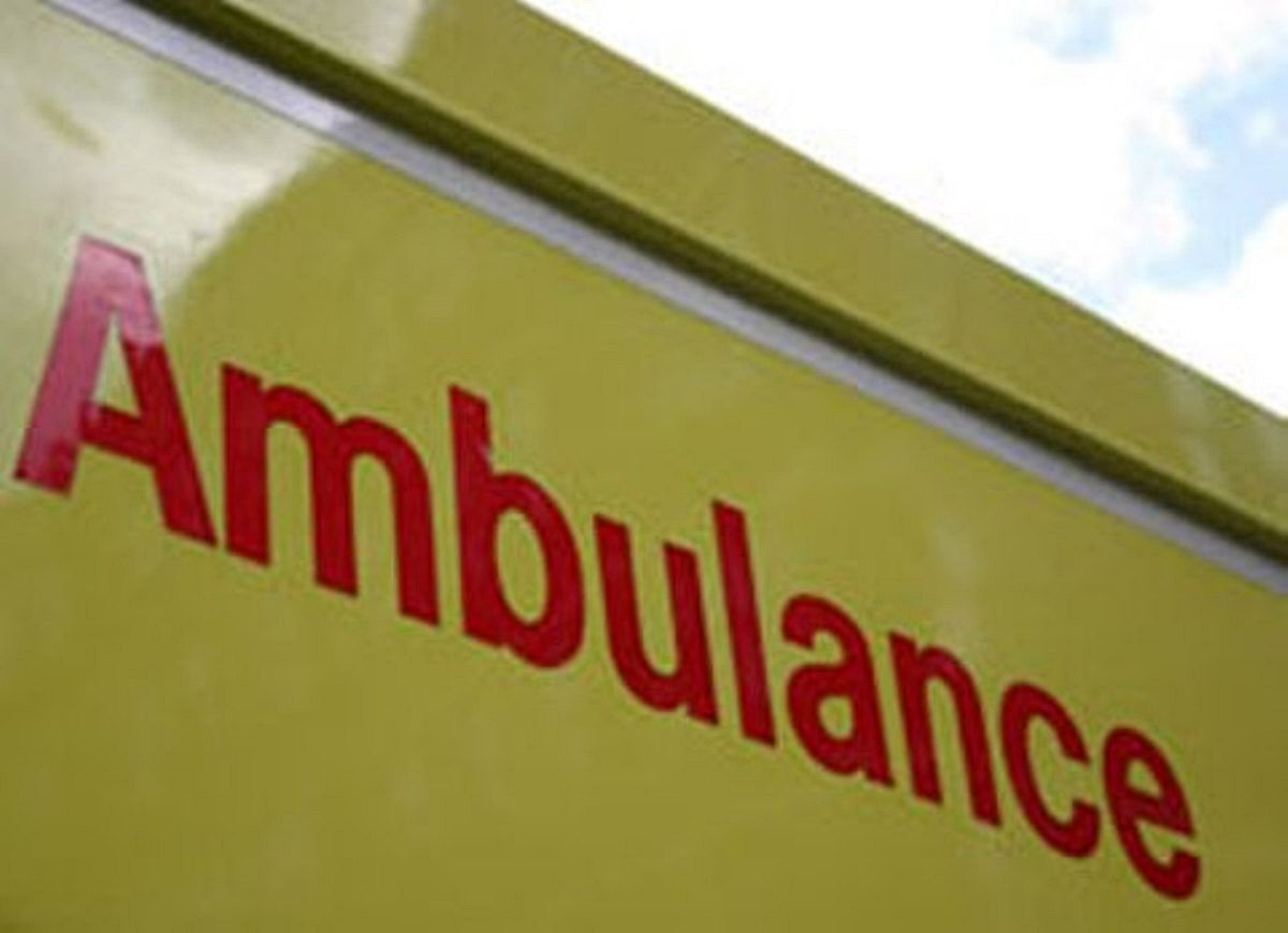 The victim was rushed to hospital by road, travelling with air ambulance personnel.