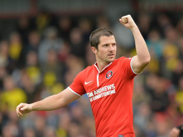 Yann Kermorgant in his Charlton days. Picture by Keith Gillard.